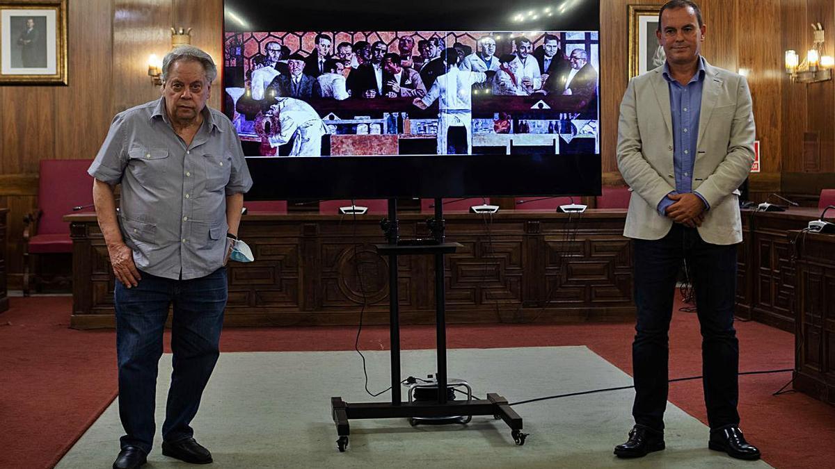 Antonio Pedro y el presidente de la Diputación, Francisco Requejo, presentan la iniciativa.