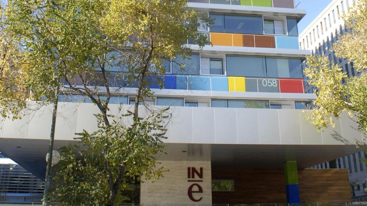 El edificio del INE en Madrid.