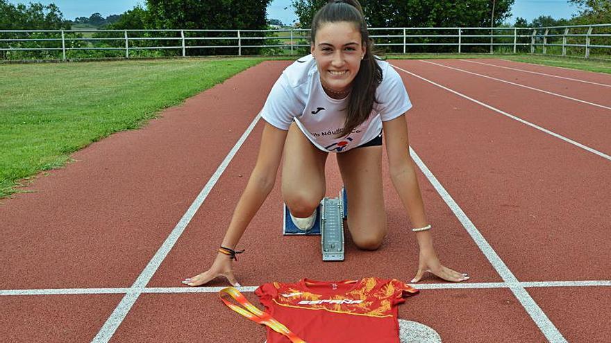 Lara Tomé, a la carrera