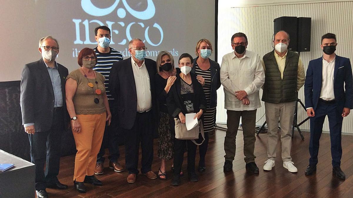 Guardonats i premiats amb ponents, Alfred Ramos, Eva Sanz i Jesús Ros. | L.S.