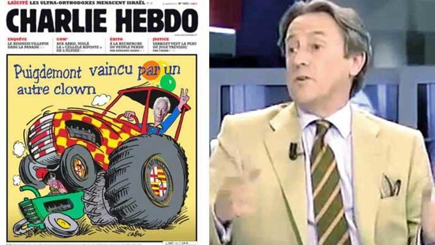 Tertsch comparte una portada falsa Charlie Hebdo sobre Cataluña y Tabarnia