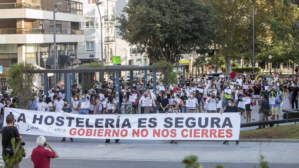 Una reciente protesta del sector en la ciudad de Alicante