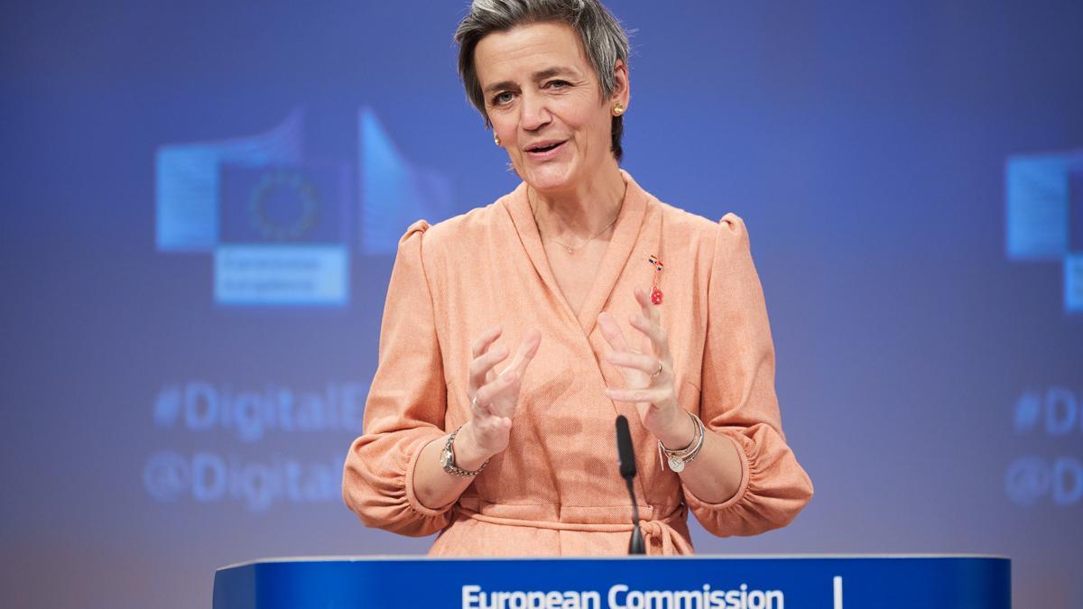 Margrethe Vestager, vicepresidenta de la CE.