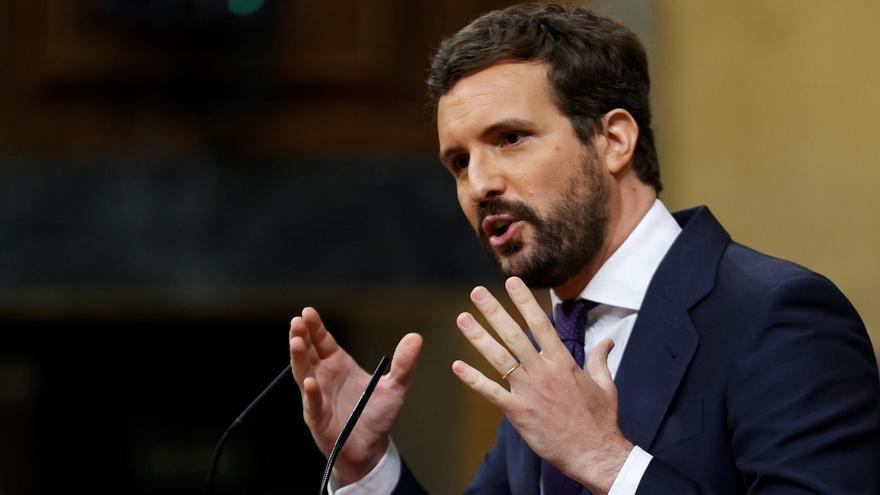 """Casado abronca a Sánchez y critica la """"chulería de un Gobierno insensible e incompetente"""""""