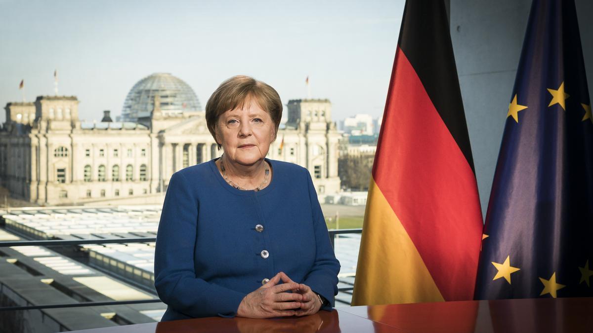 Ángela Merkel, Premio Europeo 'Carlos V' 2021
