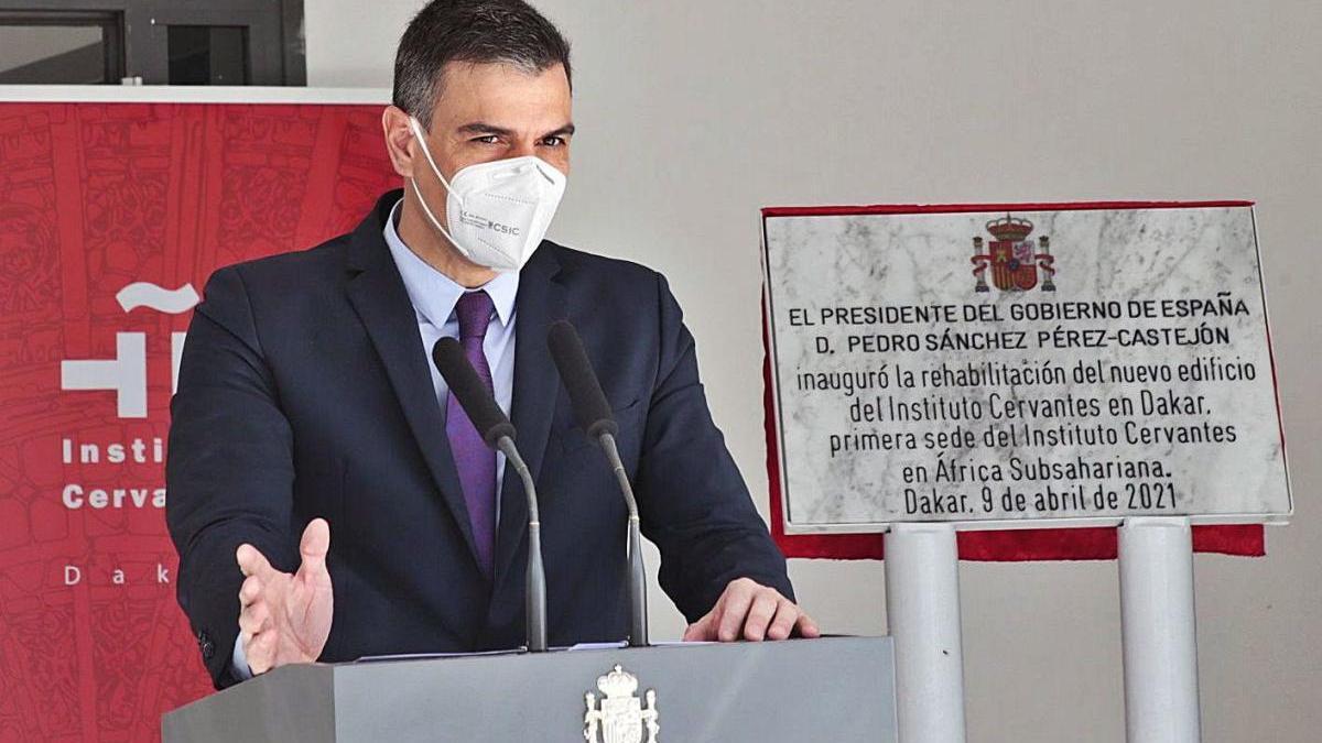 Sánchez va criticar la gestió de la pandèmia a la Comunitat de Madrid.