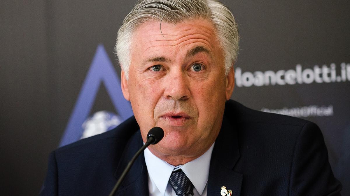 El entrenador del Real Madrid Carlo Ancelotti