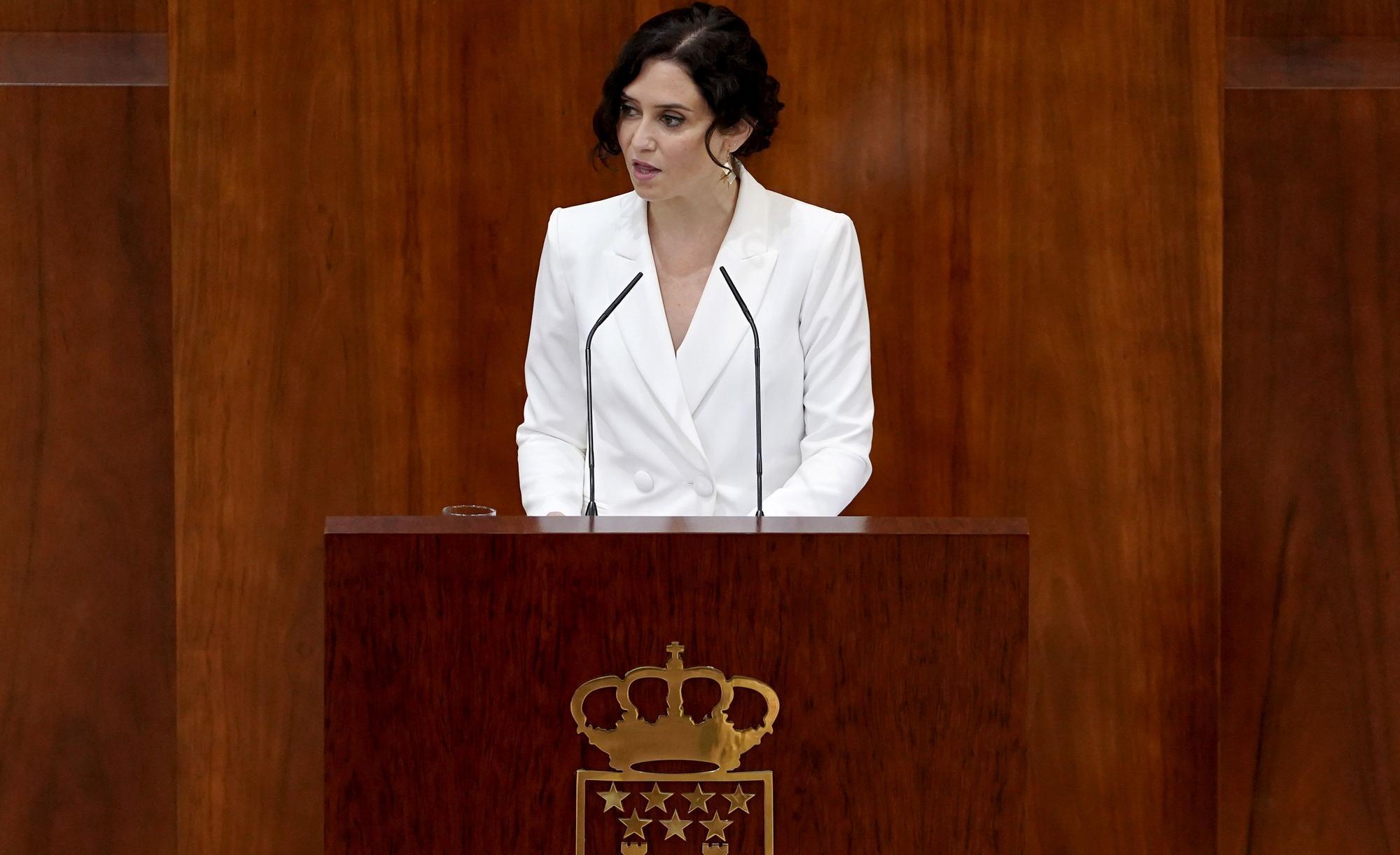 Sesión de investidura de Isabel Díaz Ayuso en la Asamblea de Madrid
