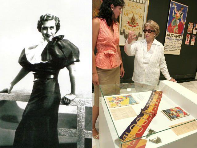 """Carmela Ramos estuvo vinculada a las fiesta desde los 15 años, edad a la que, en 1936, fue nombrada Bellea del Foc, la última de la República. En sus últimos años se dedicó a la escritura con novelas como """"Lázaro"""" que presentó en 2011 rodeada de muchas de las belleas que le sucedieron. Falleció en diciembre de 2017 a los 97 años."""