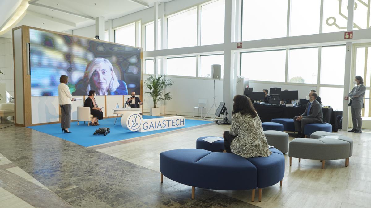 Inauguración de GaiásTech, un espacio integrado en el Centro de Emprendimiento da Cidade da Cultura de Galicia,  que cuenta con instalaciones de realidad virtual.