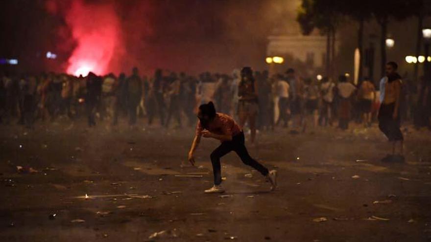 Altercados en París durante la celebración del Mundial