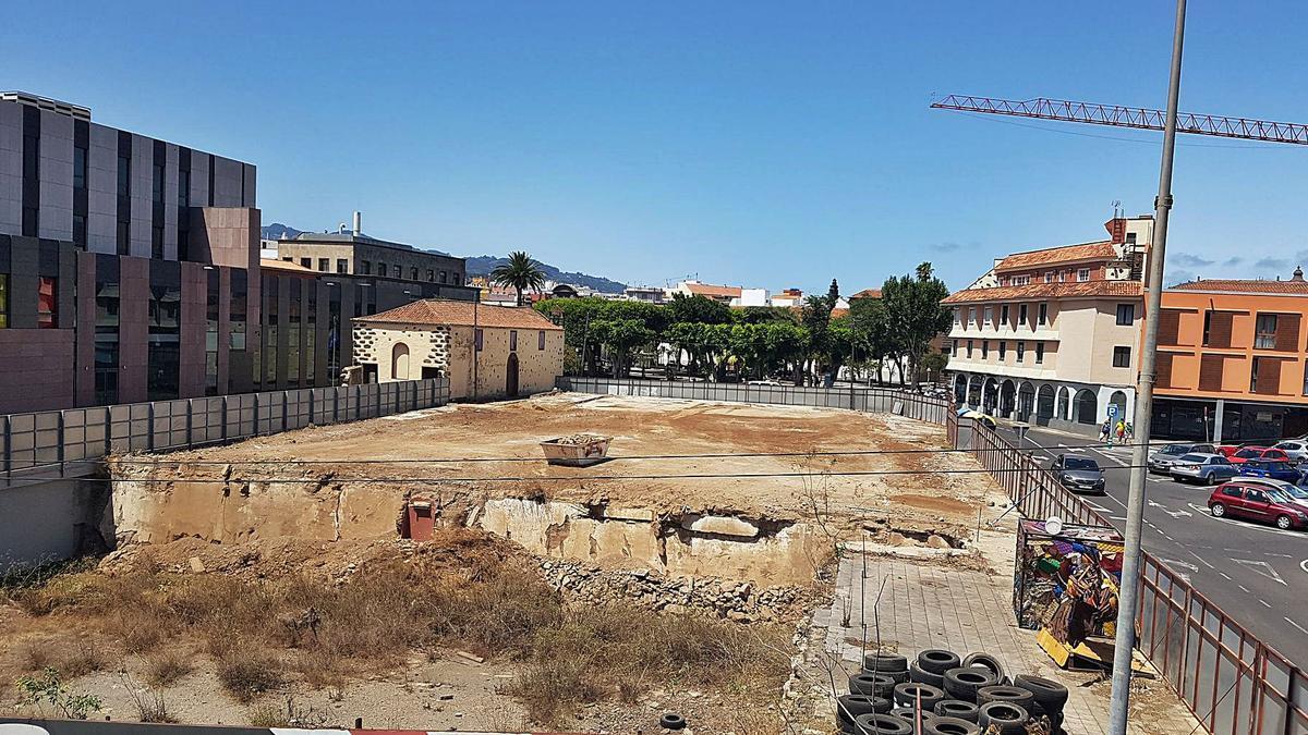 El solar del antiguo Mercado de La Laguna     E.D.