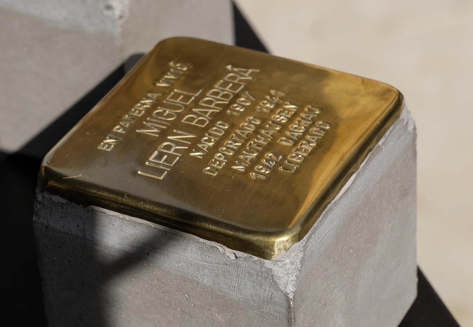 Piedras del Tropiezo para homenajear a los tres paterneros en Mauthausen