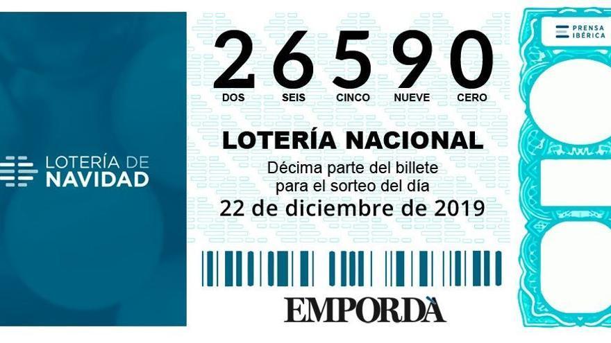 La Grossa de Nadal, el 26590, reparteix 90 sèries a Salou, 5 a Barcelona i 2 a Súria