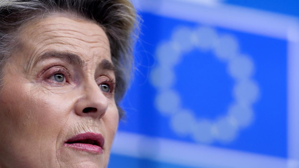 La presidenta de la Comisión Europea Von Der Leyen.