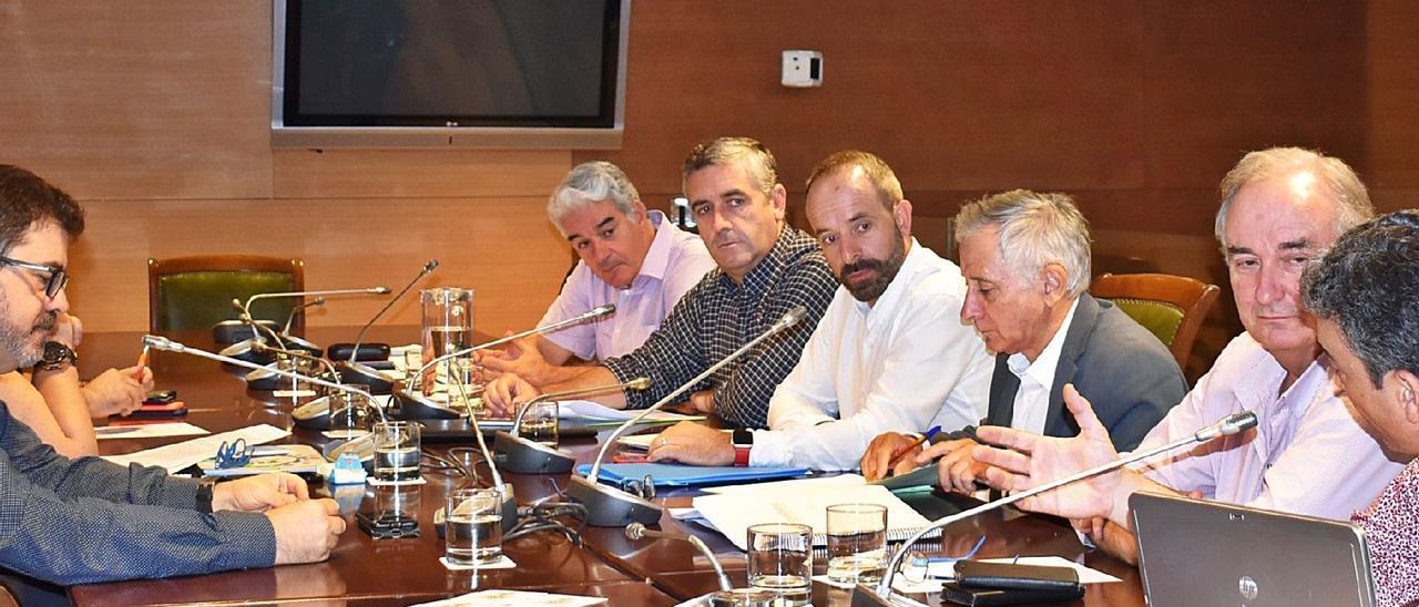 Un consejo de administración de la empresa de la Diputación de Valencia Divalterra, en 2019.