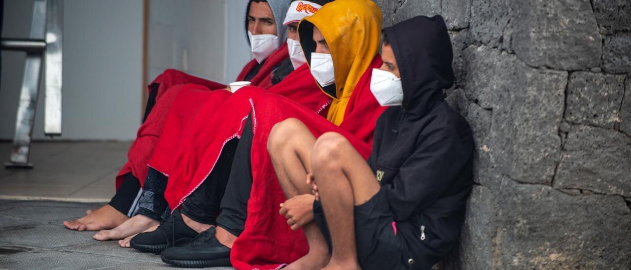 Migrantes llegados a Lanzarote.