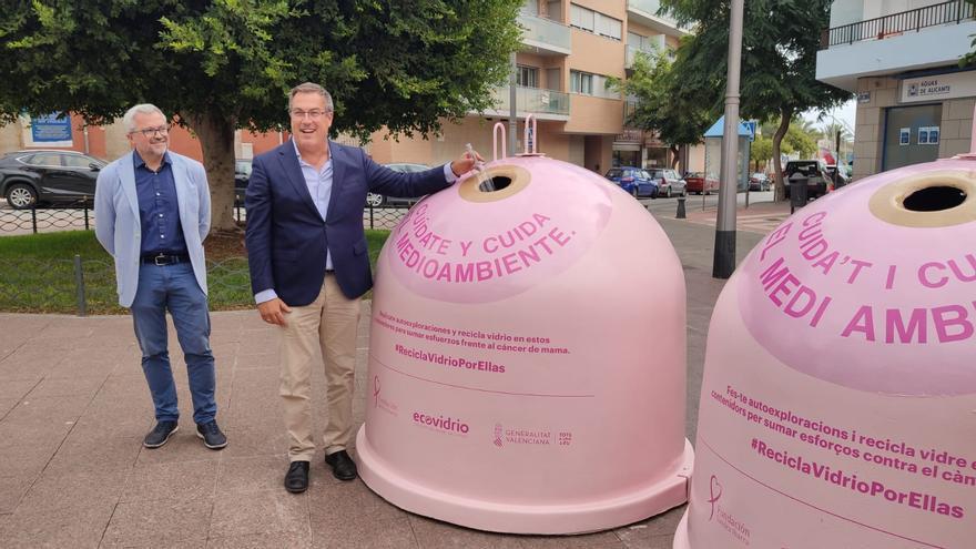 Arranca una campaña solidaria de recogida de vidrio contra el cáncer de mama en El Campello