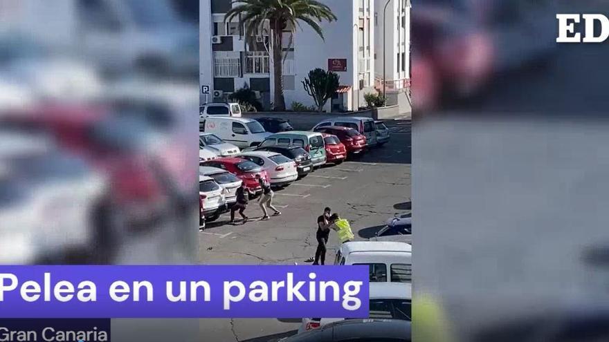 Pelea en un parking de maspalomas
