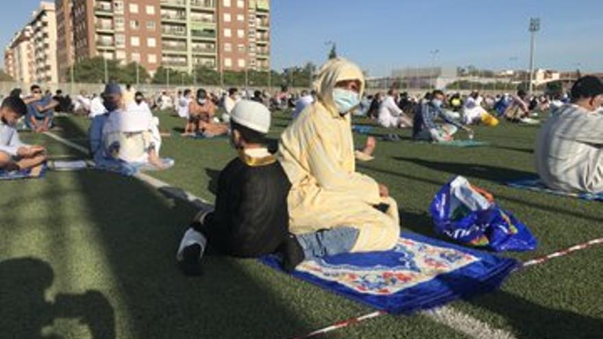 Los musulmanes celebran el fin del Ramadán en Murcia