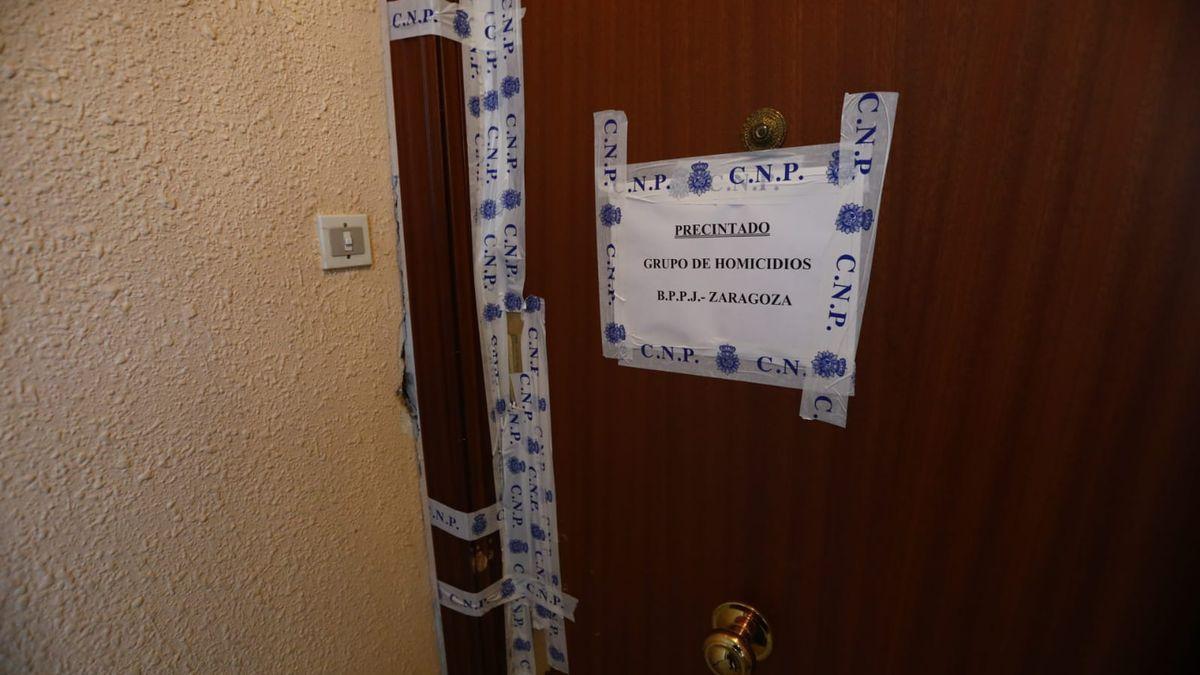 El domicilio donde se ha producido el asesinato en Zaragoza