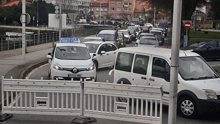 Reabre la salida hacia Marín por la autovía tras el corte por obras
