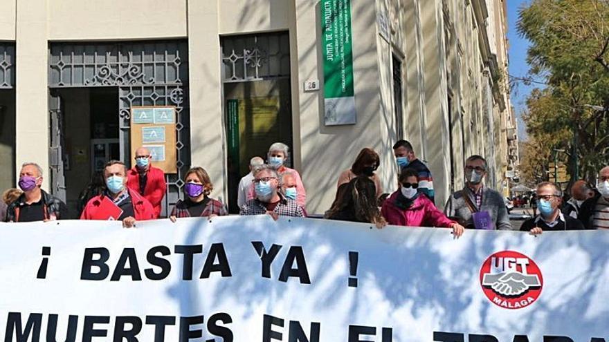 La cifra de muertes en el trabajo repunta en Málaga pese a la bajada de accidentes