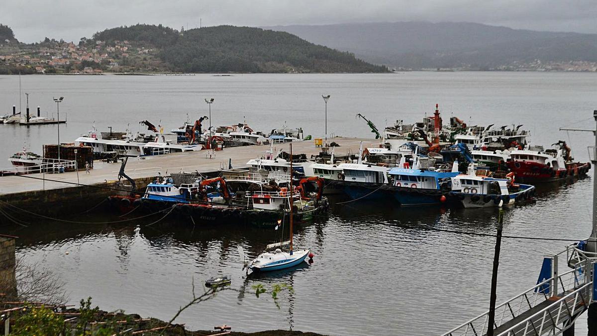 Barcos atracados en el puerto de San Adrián de Cobres.     // GONZALO NÚÑEZ