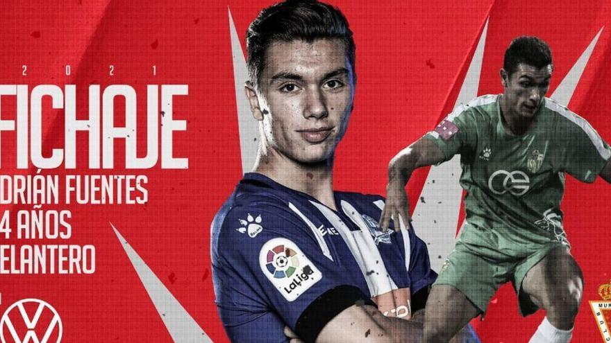 Adrián Fuentes completa la delantera del Real Murcia