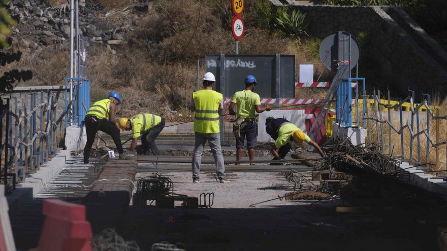 Obras en el puente de San Andrés