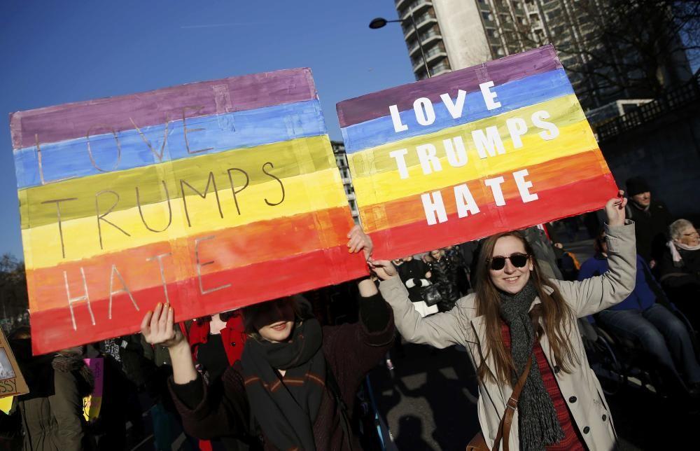 Protestas contra Donald Trump en Londres