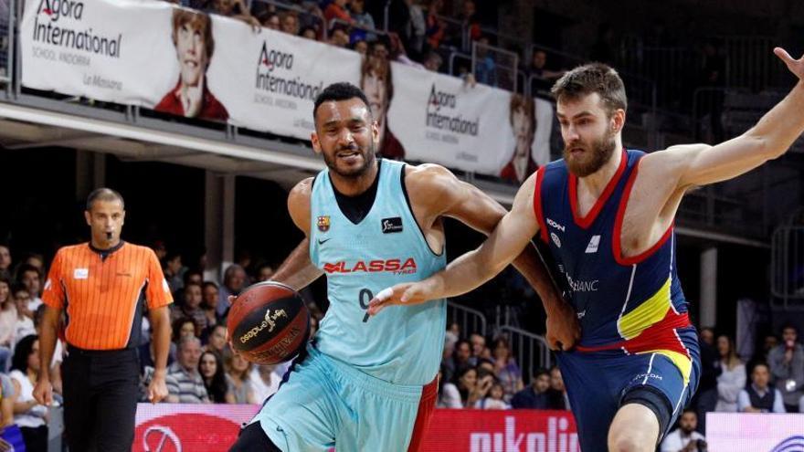 El Barcelona resiste en Andorra y fuerza el tercer partido en el Palau
