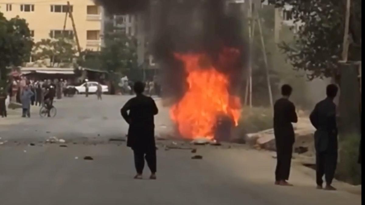 Una de las explosiones.