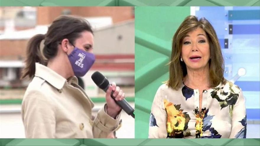 """Ana Rosa carga contra Irene Montero por usar el lenguaje inclusivo: """"Es un esperpento"""""""