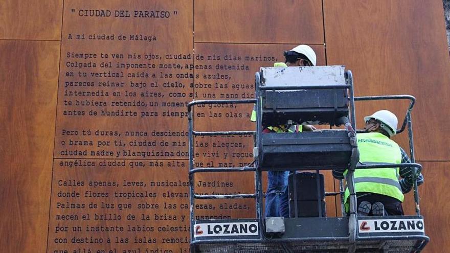 Málaga homenajea con erratas a Vicente Aleixandre