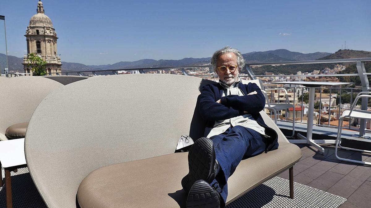 El cineasta madrileño, este jueves en el AC Málaga Palacio