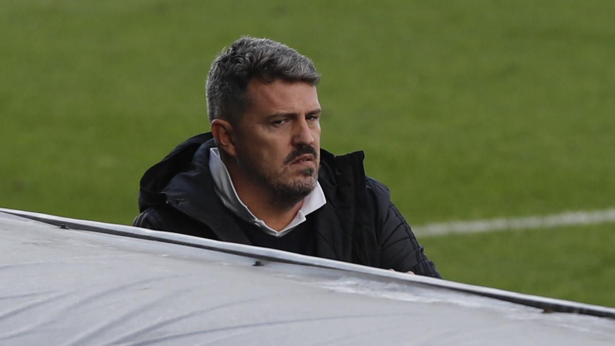 Óscar García, durante un partido del Celta.