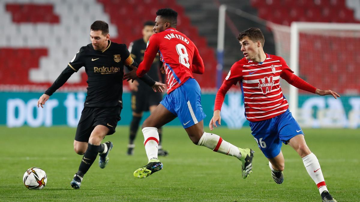 Partido de FC Barcelona contra el Granada en la Copa del Rey.