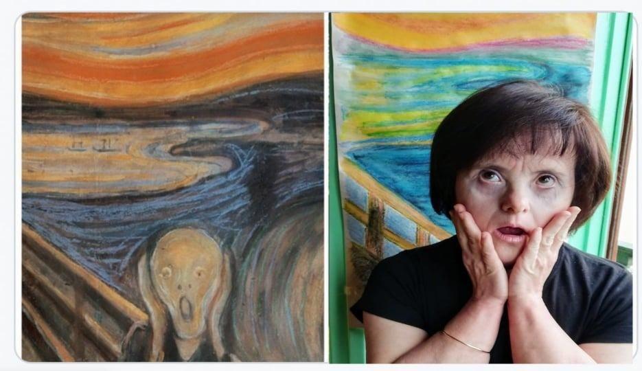 Los cuadros humanos de Integra T d'Elx para el Día Mundial de los Museos en plena pandemia del covid-19