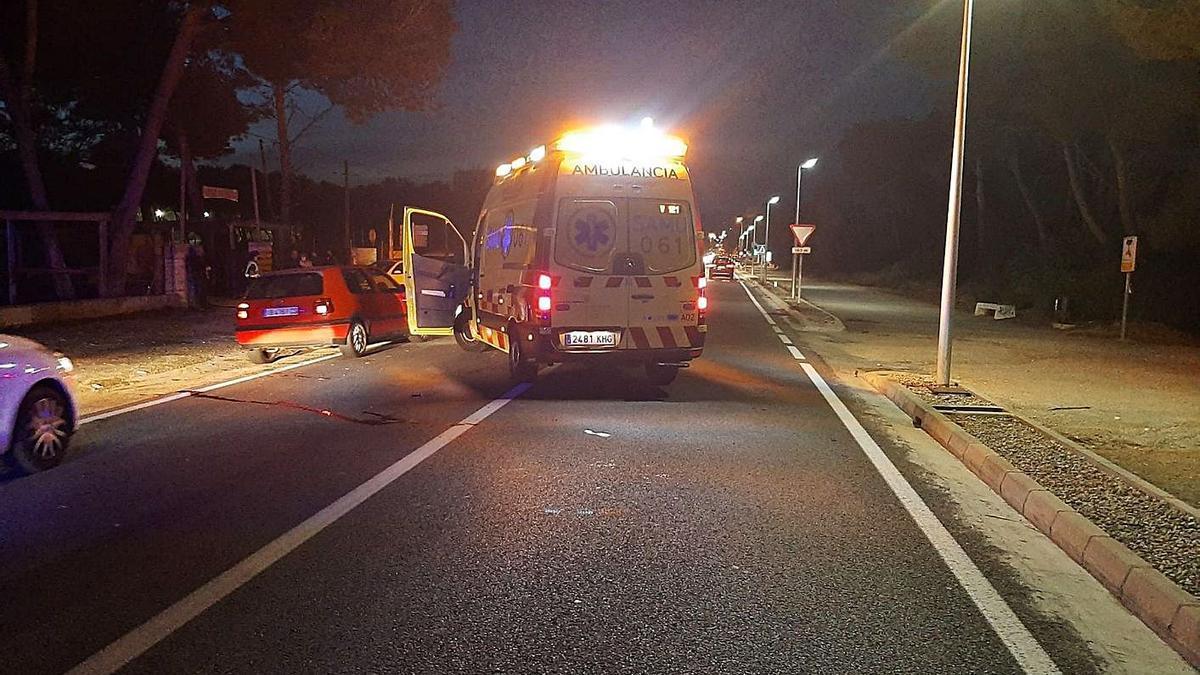 La travesía de Can Picafort, donde se produjo el accidente el pasado sábado.