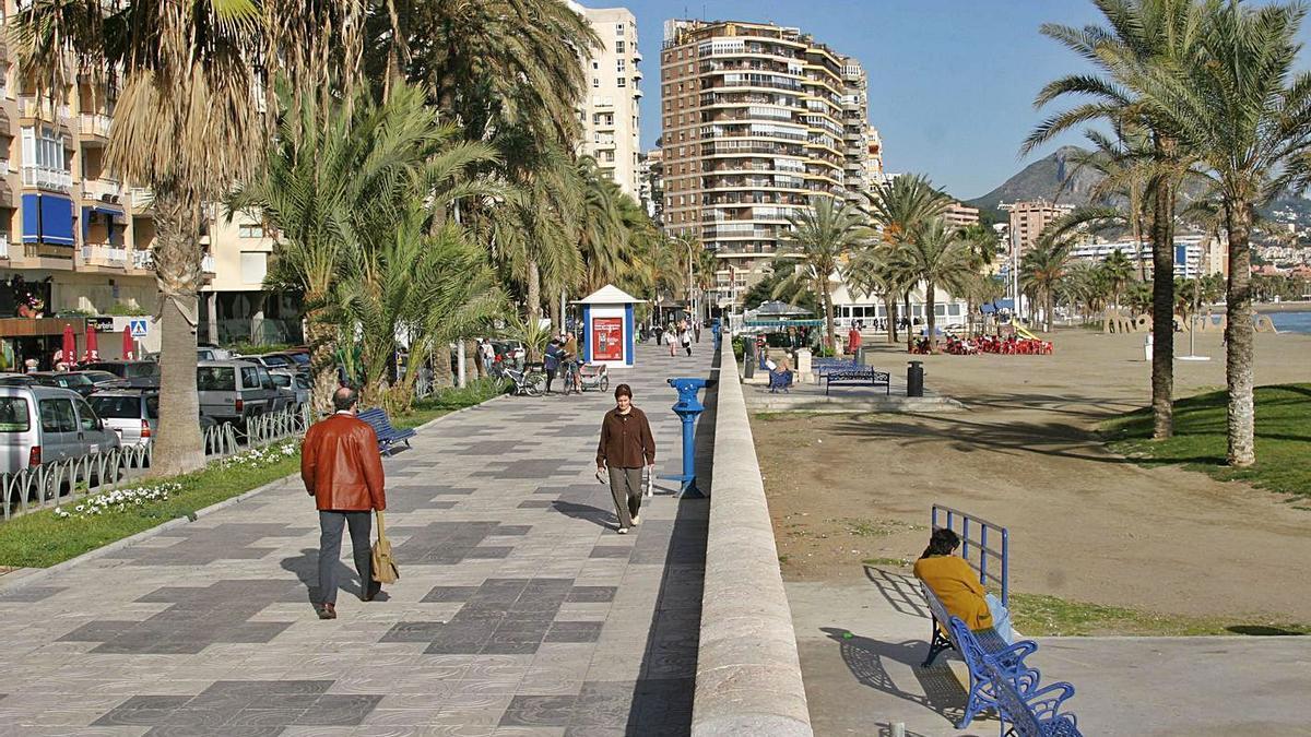 Imagen del paseo marítimo de La Malagueta. |