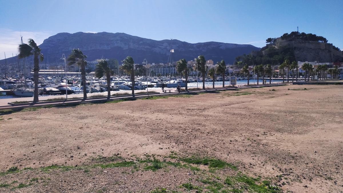 Los terrenos junto al nuevo paseo marítimo del Raset donde se construirá el centro formativo