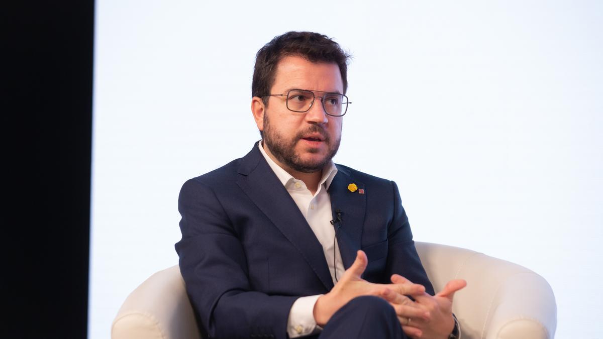 The ERC candidate, Pere Aragonès