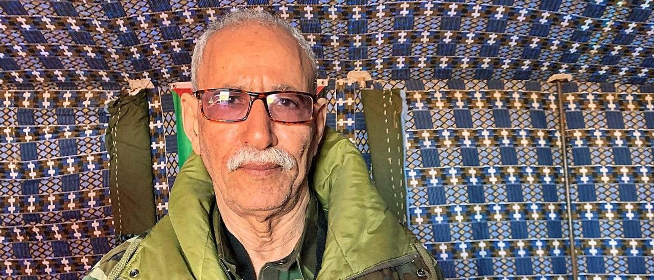 Brahim Gali, en una foto de archivo, en los campamentos de Tinduf, en Argelia, donde vive refugiado el pueblo saharaui  | | JAVIER MARTÍN