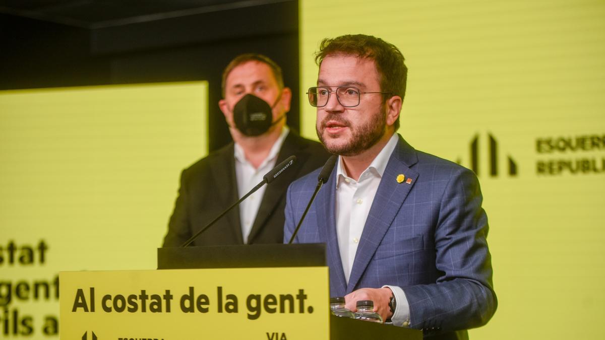 Pere Aragonès y Oriol Junqueras.
