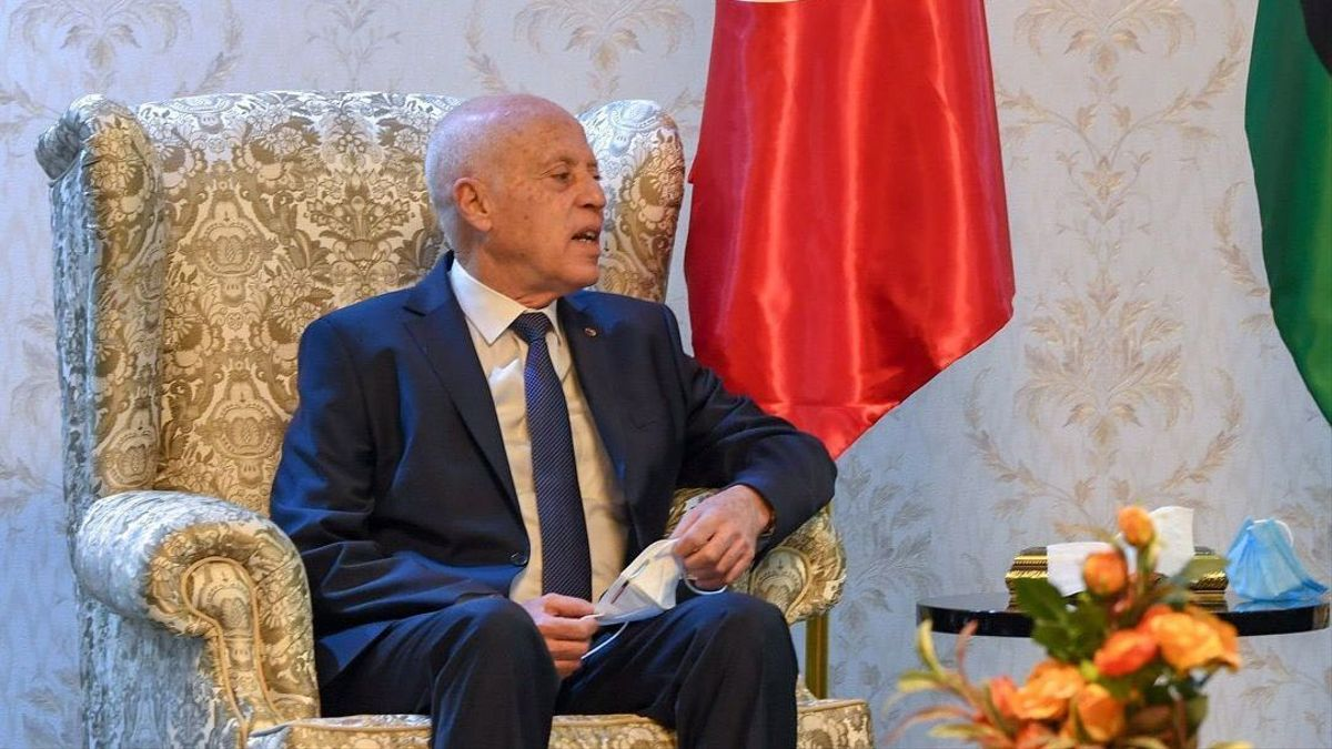 Tunisia president Kais Said visits Libya