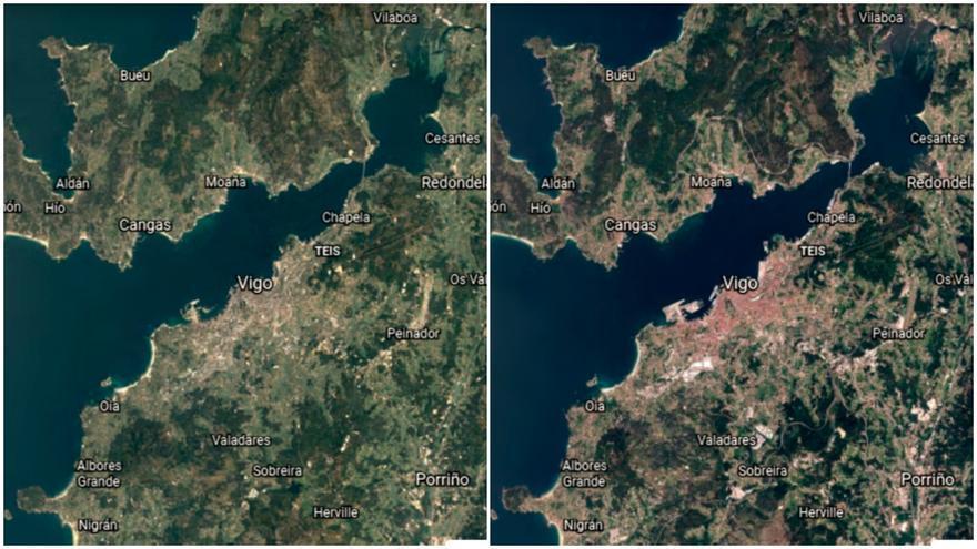 Un viaje aéreo por el Vigo de los últimos 40 años