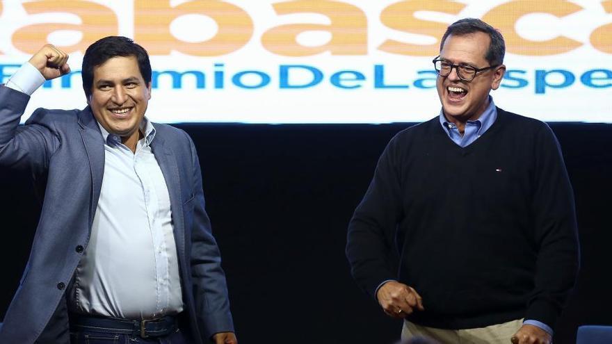 Arauz gana la primera vuelta de las presidenciales en Ecuador