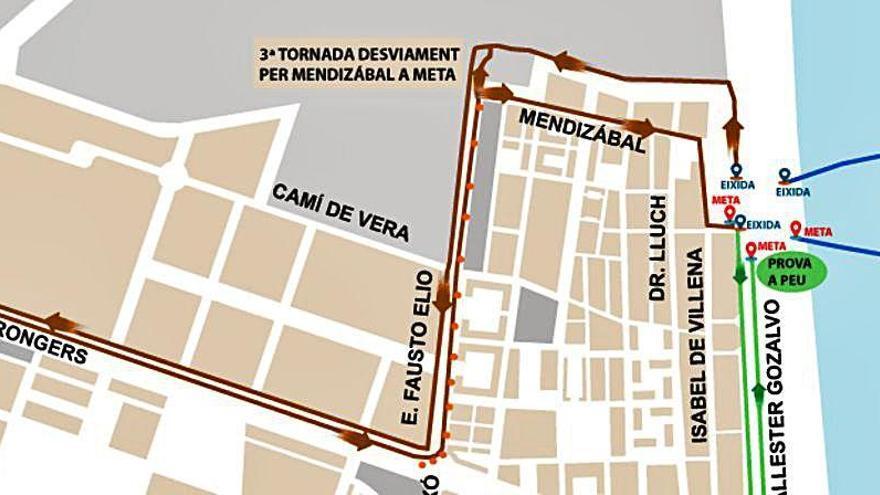 Cortes de calles para el I Triatlón València-Platja Cabanyal