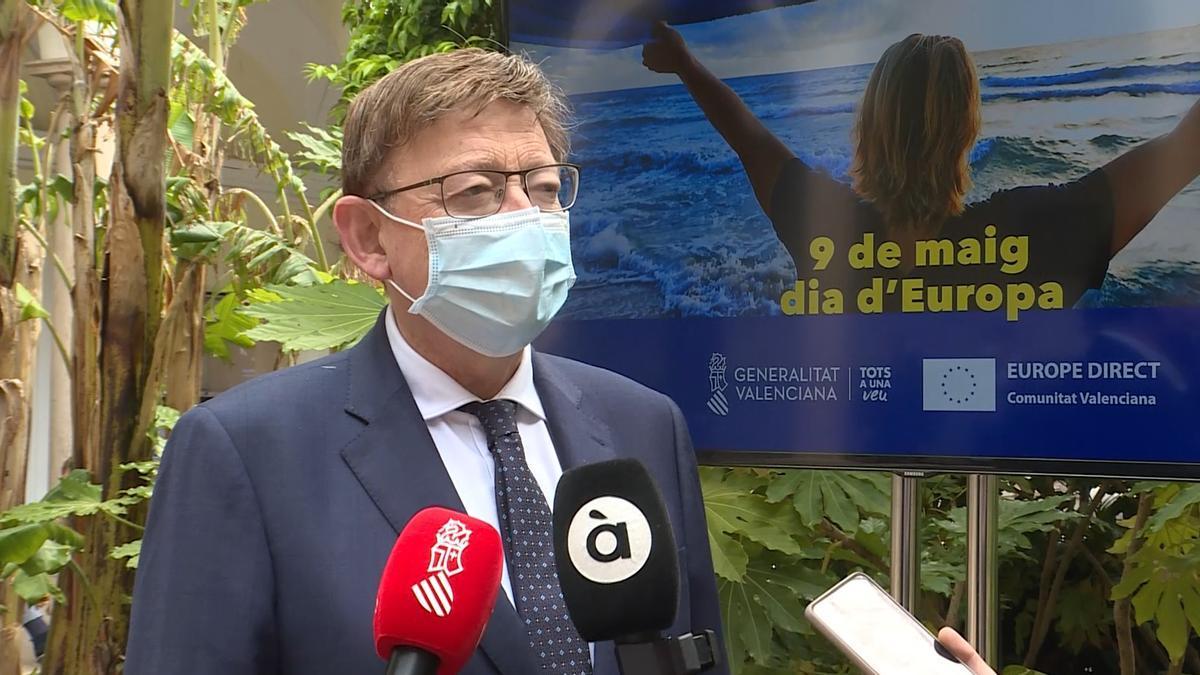 Ximo Puig ha presidido esta mañana el acto conmemorativo del Día de Europa